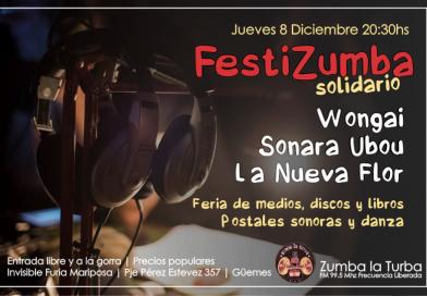 El segundo Festizumba prende las luces el Jueves 8 De Diciembre y es a la gorra!
