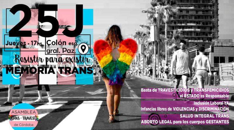 """Resistir para existir"", marcha trans y travesti en Córdoba"