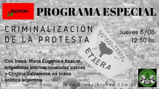 Criminalización de la protesta política: de Euskal Herria al Abya Yala